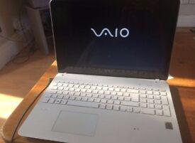Sony Vaio white laptop