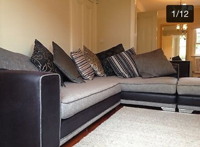 Reduced 380 Dfs Monte Carlo Corner Sofa And Chair Only Just 3years Old Excellent Condition In