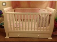 Babies r us sleigh cot bed.