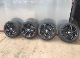 """BMW 5 SERIES F10/11 M/SPORT 351 19"""" ALLOY WHEELS WITH GOODYEAR TYRES 6mm TREAD"""