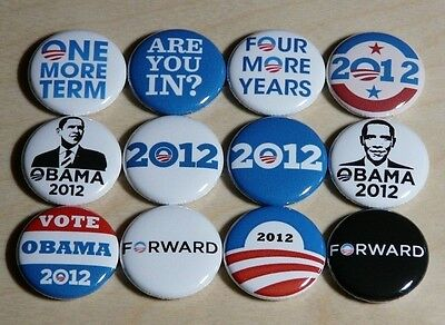 Obama Campaign Buttons - BARACK OBAMA campaign buttons badges pins President Democrat 2012