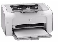 New HP LaserJet P1102W Printer + Brand New Power Lead & Printer Cable