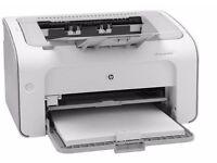 New HP LaserJet P1102W Printer + Brand New Power Lead & Printer Cable