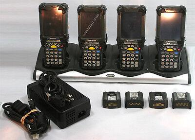 Lot Of 4 Symbol Motorola Mc9090-su0hjafa6wr Wireless Laser Barcode Scanner Pda