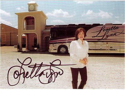 Coal Miners Daughter Vintage Loretta Lynn Photo Postcard Signed Autograph