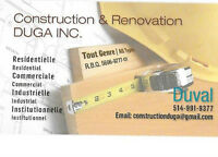 CONSTRUCTION ET RENOVATION DUGA INC.