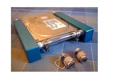 RADIATORE x RAFFREDDAMENTO ACQUA KITx HARD DISK HDD 3.5 WATERCOOLING pc blu