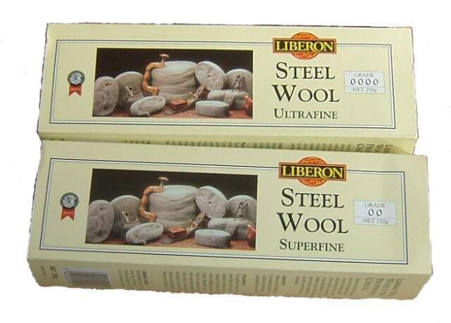 LIBERON TOP QUALITY STEEL WOOL 250 GRAMS ASSORTED GRADES 0000-4 FREE POST