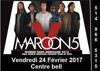 Maroon 5, 24/02/2017, Centre Bell, Clubs, Blanc, Gris