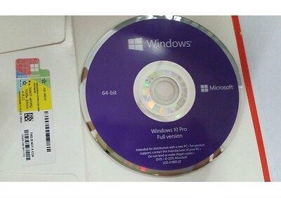 Microsoft Windows 10 Pro Professional 64 bit DVD & COA product key