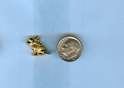 Newfoundland Dog Charm - Newfoundland 24kt Gold Plated 3D Dog Charm