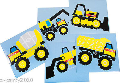 TONKA JUMBO STICKERS (5) ~ Construction Birthday Party Supplies Favors Trucks - Tonka Truck Party Supplies