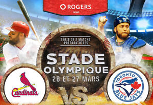 Blue Jays vs Cardinals, 27/03/18, Section 103  Rangé E