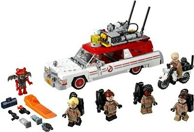 LEGO Ghostbusters Ecto-1 & 2 (75828) 100% Complete - 2016 Movie - RETIRED set!