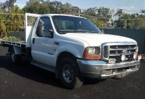 2006 Ford F350 XLT V8 Diesel Powerstroke Cab Chassis Ute Auto RWC Yatala Gold Coast North Preview