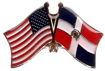 LOT OF 12 Dominican Friendship Flag Lapel Pins - Dominican Republic Flag Pin