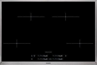 AEG HK854401XB Autarkes Induktions-Kochfeld, 80 cm breit, Edelstahl-Rahmen