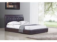 Sienna - Faux Leather Bed - FREE DELIVERY