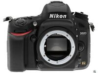 Nikon D600 Digital SLR Camera Body Only (24.3MP) 3.2 inch LCD