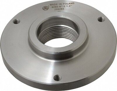 Bison Lathe Chuck Back Plate Threaded 1-12x8 For Set-tru 5 In Chuck 7-876-052