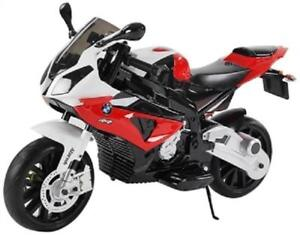 Licensed 12V BMW S1000 RR Baby / Child / Kids Ride On Toy Motorcycle w Key, Leather Seat, Rubber Tires, Training Wheels
