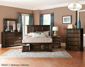 PLATFORM QUEEN BED FRAME ONLY | BED FRAME WITH STORAGE (MA2206)