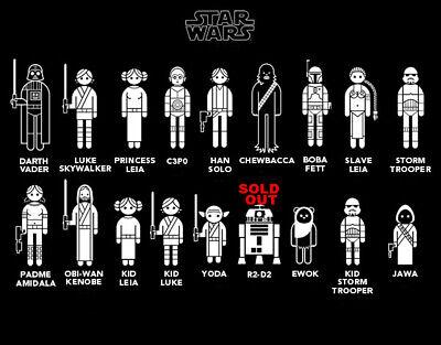 Chewbacca  Star Wars Stick Figure Family Member Vinyl Decal Sticker Car Jedi