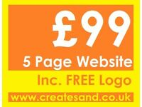 £99 Five Page Website - Completed in 2 days Guaranteed + Logo