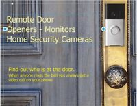 Install Remote Door Openers and Monitor - Home Security Cameras