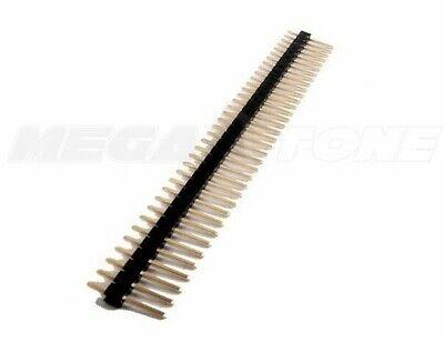 40-pin Male Header 2.54mm Breadboard Single Row Pcb Strip Connector - Usa Seller