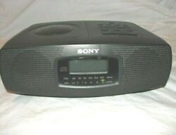 Sony ICF-CD820 Stereo Dual Alarm Clock Radio w/ CD Player ICFCD820 Tested Works