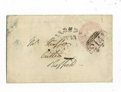 1846 Great Britain 1d PINK #214 Canceled Cover