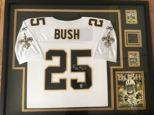 REGGIE BUSH AUTOGRAPHED NEW ORLEANS SAINTS JERSEY