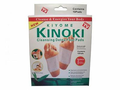 100 Kinoki Detox Foot Pad Patches Remove Harmful Body Toxins Health Boxed UK