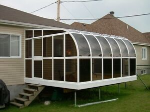sunrooms,gazebos,bbq shelters,wind barriors and basement entranc