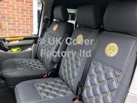 Van Seat Covers VW Transporter T5 T6 Panel Van Waterproof Yellow Premium Bentley A17VW
