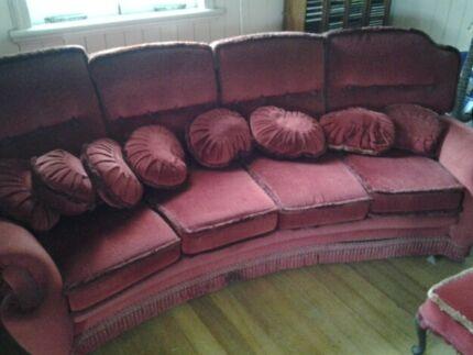 Vintage Sofa - Red Velvet - Ornate Ipswich Ipswich City Preview