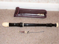 AULOS TREBLE RECORDER 209 with Case, Made In Japan