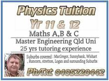 PHYSICS   Yr 11 & 12  Tuition Macgregor Brisbane South West Preview