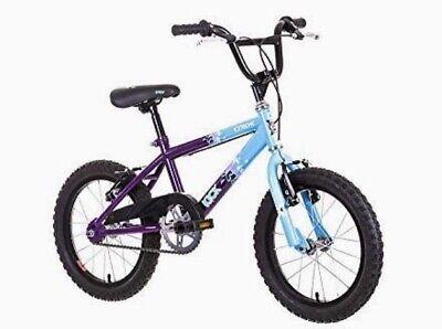"Raleigh Extreme Kick 16"" Wheel Kids Bike Purple/Blue Single Speed - RRP £130"