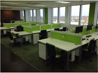 fantastic white office furniture set complete with 1.2 meter desks ,chairs,pedstals,screens