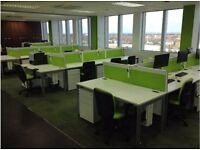 fantastis white 1.2 meter desking and pedstals chairs