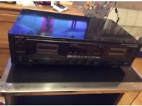 DENON precision Audio Component Stereo Double Cassette Tape Deck DRW-750A