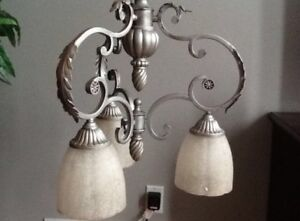 Silver pendant lighting
