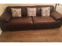 Real leather sofas x2