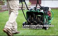 Offering Aeration and Mowing services