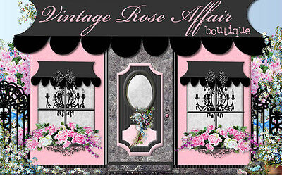 Chic Fashion Shabby Pink Boutique Roses Ebay Compliant Auction Listing Template