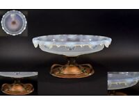 Sabino Fine 1920's / 1930's Large and Impressive Opalescent / Opaline Moulded Glass Bowl