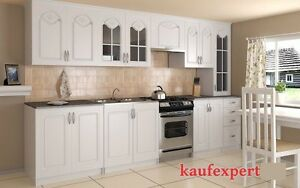 Küche,Küchenzeile,Agata,Landhausstil,320 cm,Arbeitsplatte,Weiß,MDF