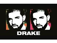 Drake tickets - Upper tier Row A seats**Manchester** Sat 11/2/17